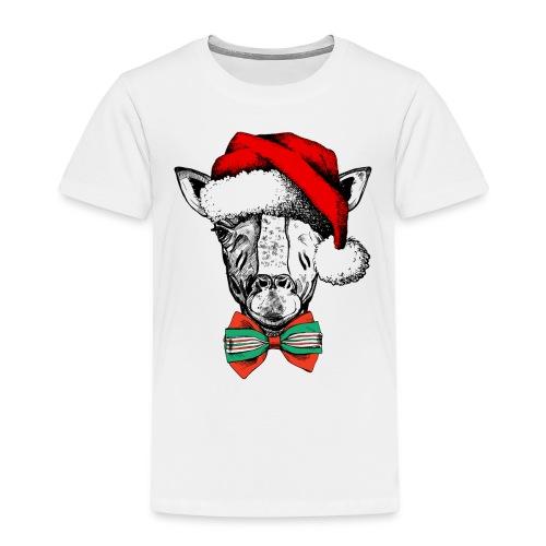 Christmas Giraffe - Kids' Premium T-Shirt