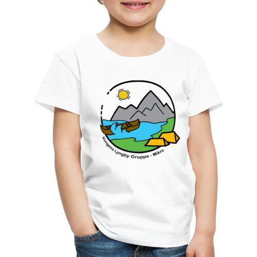 Mikro sort - Børne premium T-shirt