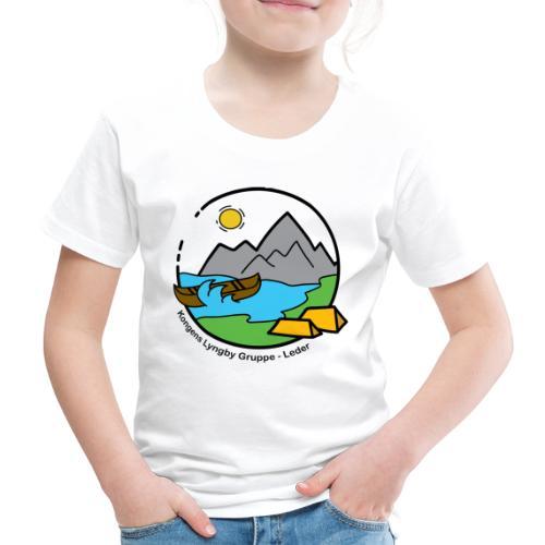 Leder sort - Børne premium T-shirt