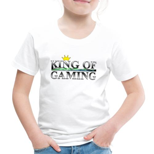 King of Gaming Gamer Geschenk - Kinder Premium T-Shirt