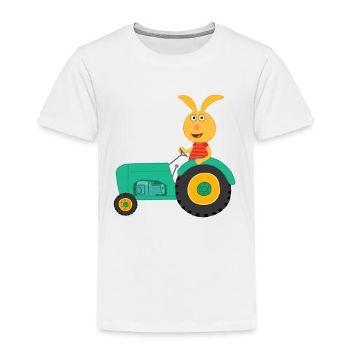 Häschen Mina auf Traktor - Kinder Premium T-Shirt