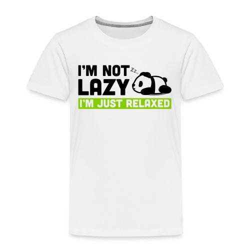 Relaxed Panda - Kinder Premium T-Shirt