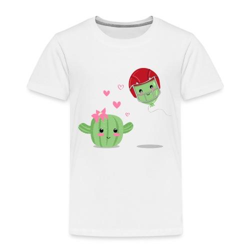 Cactus y Globo, amor - Camiseta premium niño