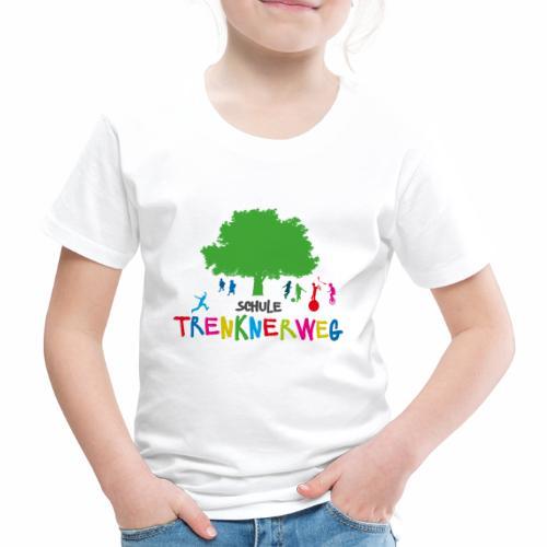 Schulkleidung Schule Trenknerweg buntes Logo - Kinder Premium T-Shirt