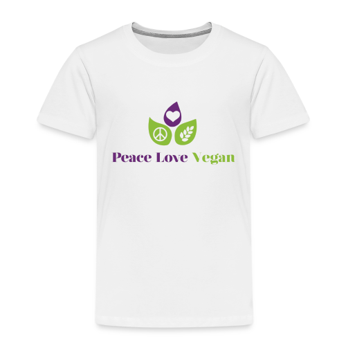 Peace Love Vegan - Kids' Premium T-Shirt
