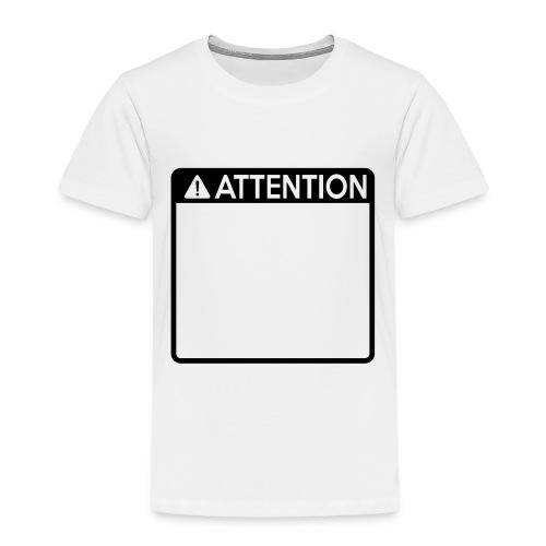 Attention Sign (1 colour) - Kids' Premium T-Shirt