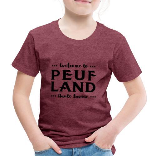 Peuf Land 74 - Black - T-shirt Premium Enfant