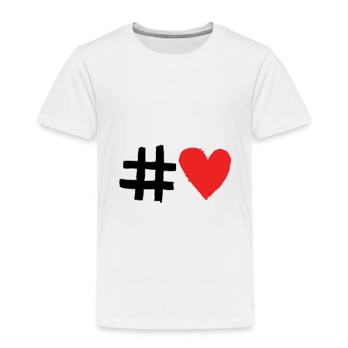 #Love - Børne premium T-shirt