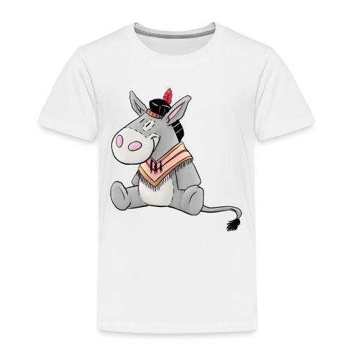 Kuschelesel als Indianer - Kinder Premium T-Shirt