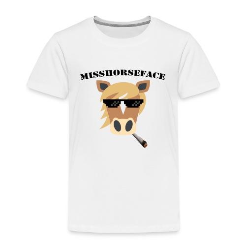 MissHorseface - Kinderen Premium T-shirt