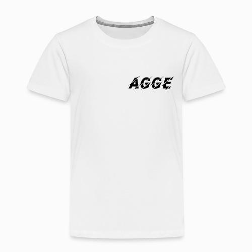 Agge - Svart Logga | Fram - Premium-T-shirt barn