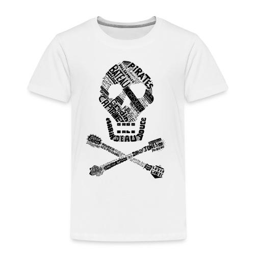 Tête de mort mots - T-shirt Premium Enfant