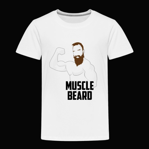 Muscle beard pose vest - Kids' Premium T-Shirt