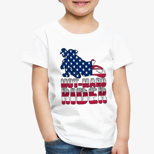 Mot-hard rider usa - Maglietta Premium per bambini