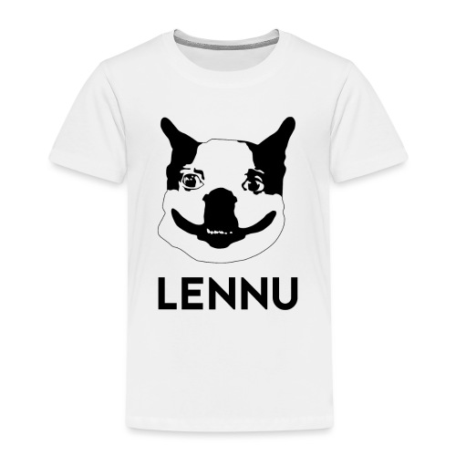 Lennu - Musta Teksti - Lasten premium t-paita