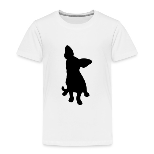 Chihuahua istuva musta - Lasten premium t-paita