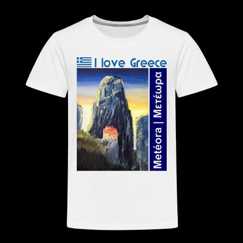 I love Greece. Blue Meteora - Kinder Premium T-Shirt