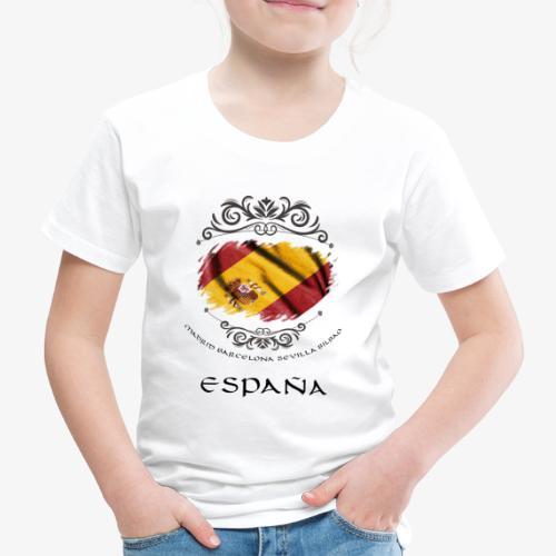 Spain Vintage Flag - Kinder Premium T-Shirt