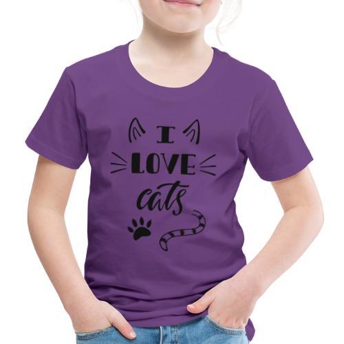 I love cats - Kinder Premium T-Shirt