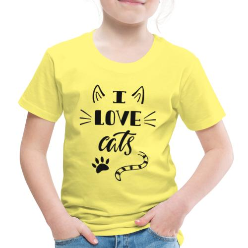 I love cats - Kinder Premium T-Shirt