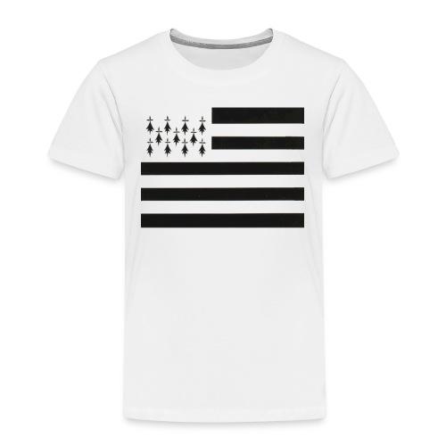 fond ecran drapeau breton jpg - T-shirt Premium Enfant