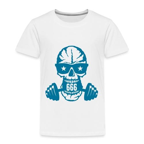 haltere musculation tete mort bodybuildi - T-shirt Premium Enfant