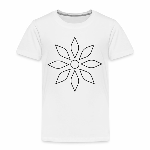 Kaleidoscope Sunflower - Black Edition - Kinder Premium T-Shirt