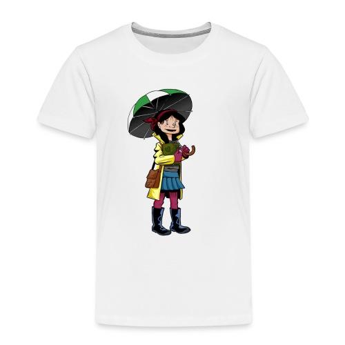Chica con Paraguas - Camiseta premium niño