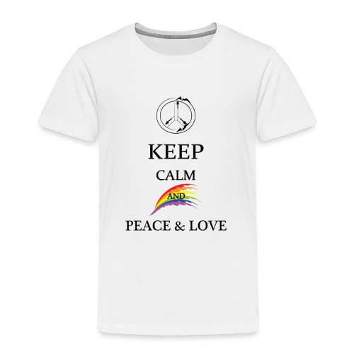 keep calm and Peace & Lov - Maglietta Premium per bambini