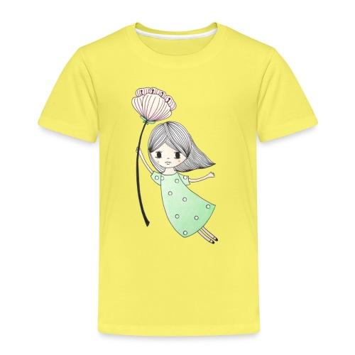 meisje met bloem - Kinderen Premium T-shirt