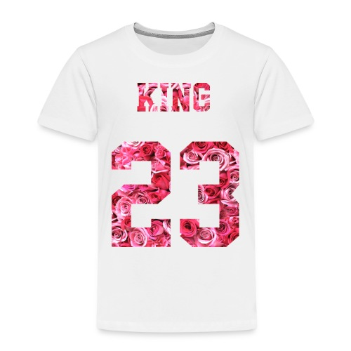 KING 23 PINK ROSES.png - Kinder Premium T-Shirt