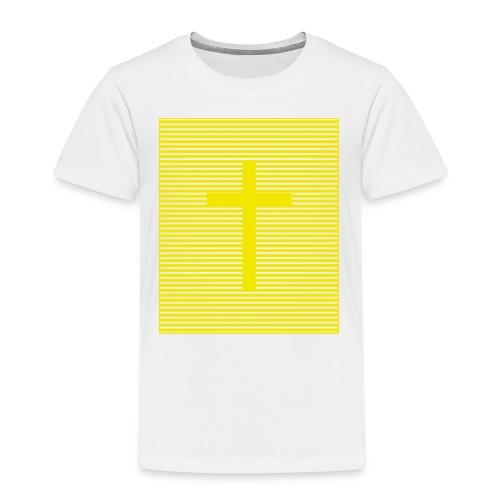 Kreuz Gelb - Kinder Premium T-Shirt