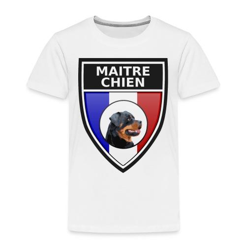 Ecusson noir maitre-chien rottweiller - T-shirt Premium Enfant