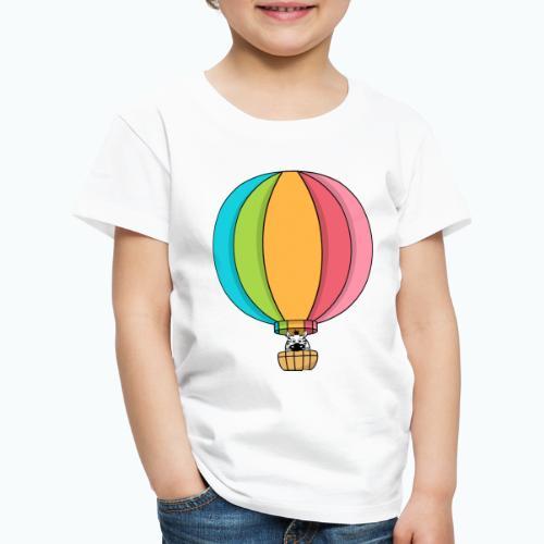 Zebra Zach Air Balloon - Premium-T-shirt barn