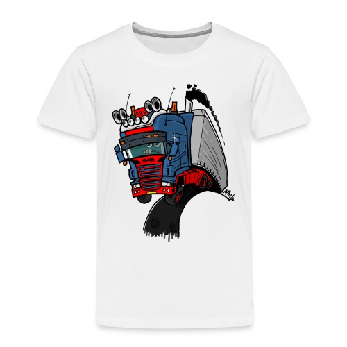The flying skane man notext - Kinderen Premium T-shirt