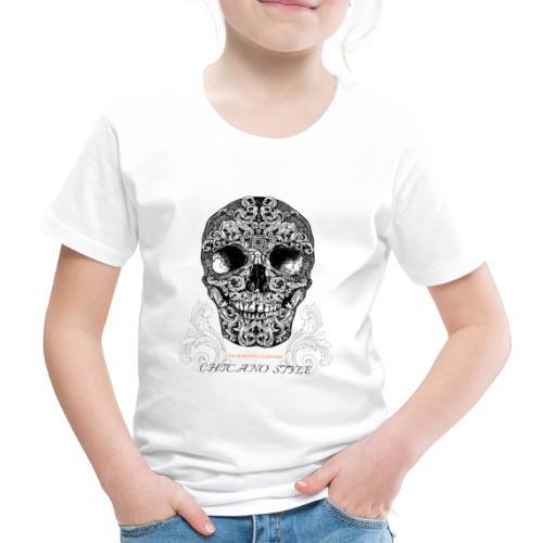 Chicano Style, Motorrad Rocker Skull Totenkopf HD - Kinder Premium T-Shirt