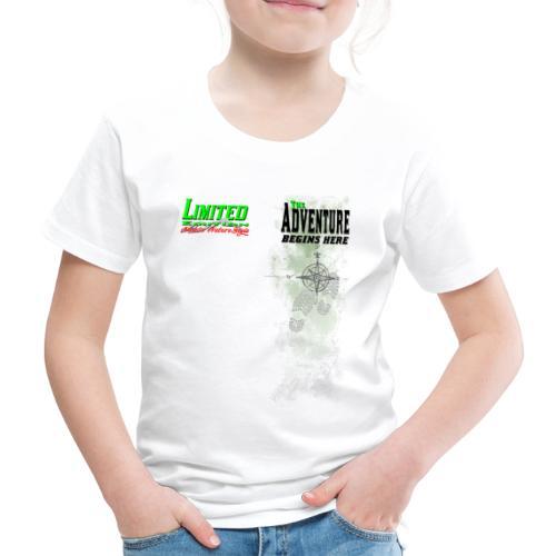 Limited Edition Wandern The Adventure begins here - Kinder Premium T-Shirt