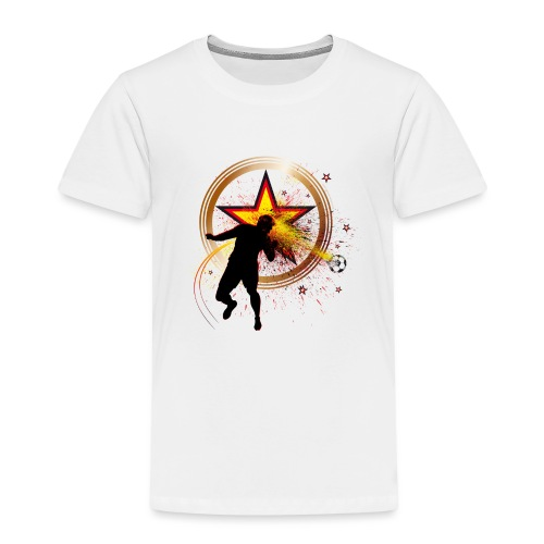 Fussball Fanshirt Deutschland - Kopfball Treffer - Kinder Premium T-Shirt