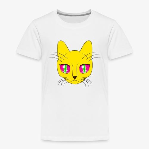 Die Katze mit den großen Augen - Kinder Premium T-Shirt