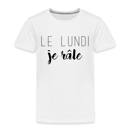lundi je rale - T-shirt Premium Enfant