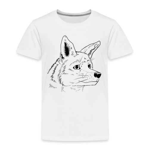 Strichzeichnung Fuchs - Kinder Premium T-Shirt