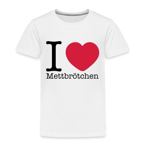 I Love Mettbrötchen - Kinder Premium T-Shirt