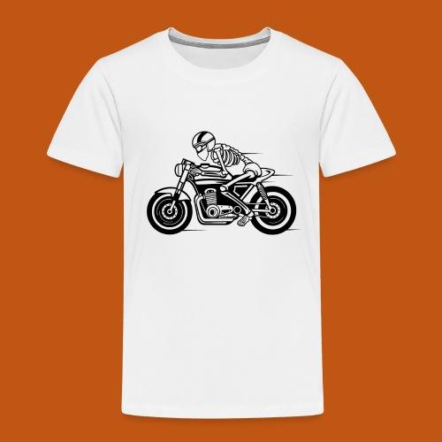 Cafe Racer Motorrad 05_schwarz - Kinder Premium T-Shirt
