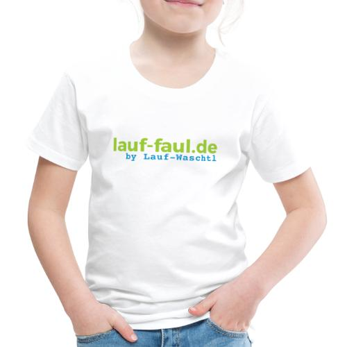 lauf-faul.de - beidseitig - Kinder Premium T-Shirt