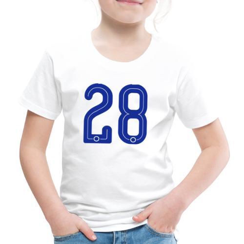 28 Jersey Number by Pelibol ™ - Kinder Premium T-Shirt