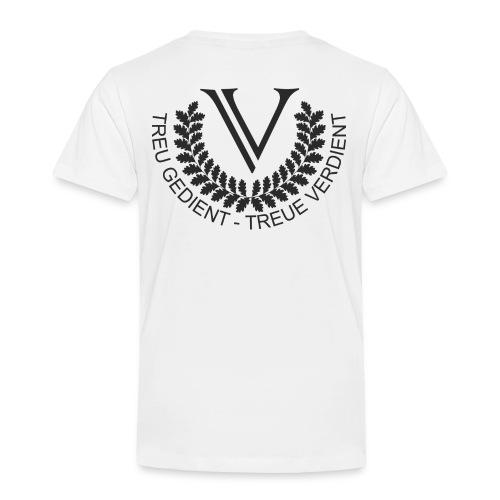 V Logo Black Groß - Kinder Premium T-Shirt