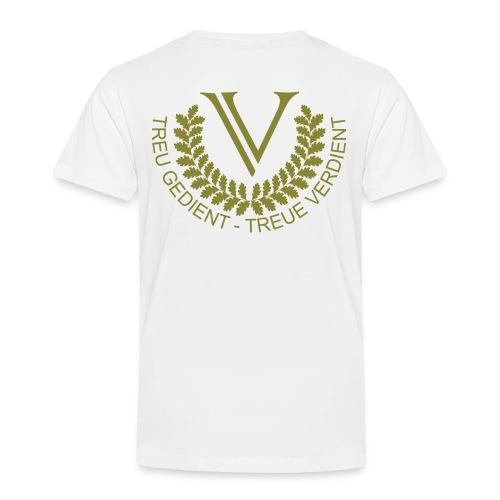 V Logo Oliv Groß - Kinder Premium T-Shirt