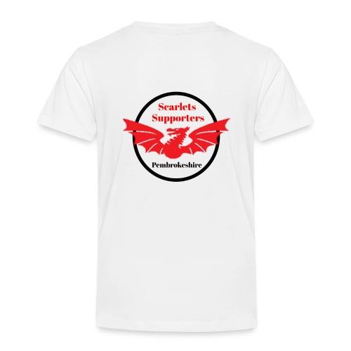 Scarlets Supporters Pembrokeshire logo 2 - Kids' Premium T-Shirt