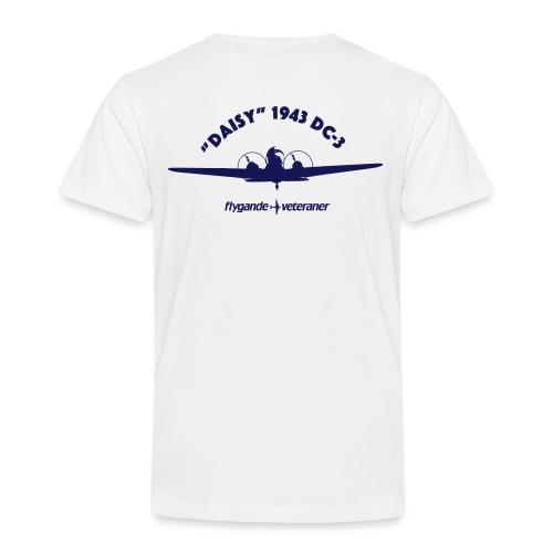 Daisy front silhouette 1 - Premium-T-shirt barn