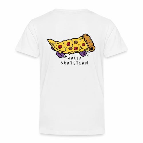 JallaSkateTeam pizza logo - Premium T-skjorte for barn